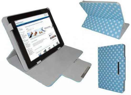 i12Cover - Diamond Class Cover voor Ematic Eglide Reader 2.3 Egl101 - Polkadot - Blauw