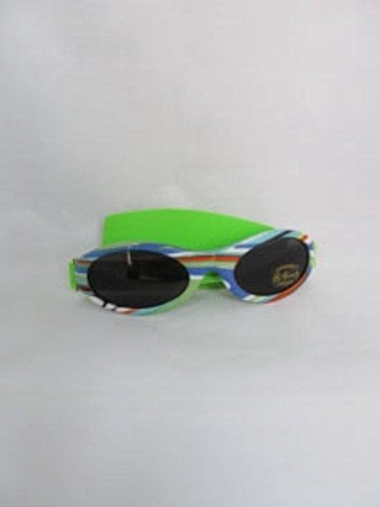 968a0542887cea BabyBanz zonnebril streep met groene band