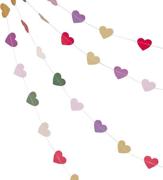 Ginger Ray Boho - Hartjes slinger - multicolor - 5 meter Valentinaa