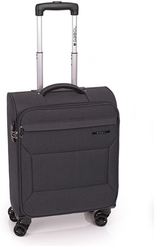 Gabol handbagage koffer - 4 wiel - 55 cm - Board - zwart