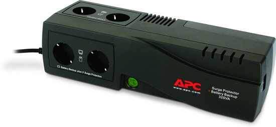 APC Back-UPS BE325-GR - Noodstroomvoeding / 4x stopcontact / 325VA