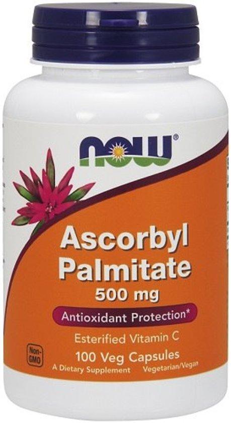 Now Foods Voedingssupplementen Ascorbyl Palmitaat 500mg (100 veggiecaps) - Now Foods
