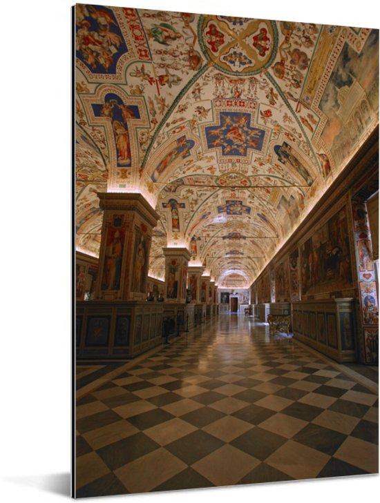 Fantastisch plafond in de hal van het Vaticaanse Musea in Italië Aluminium 20x30 cm - klein - Foto print op Aluminium (metaal wanddecoratie)
