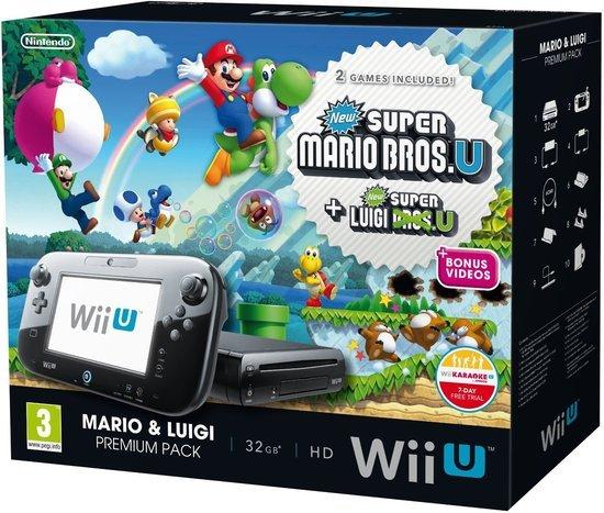 Nintendo Wii U 32GB Premium Bundel Zwart + Nintendoland