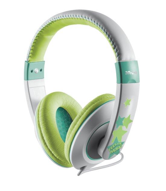 Trust Sonin - kinder koptelefoon - Groen/Grijs