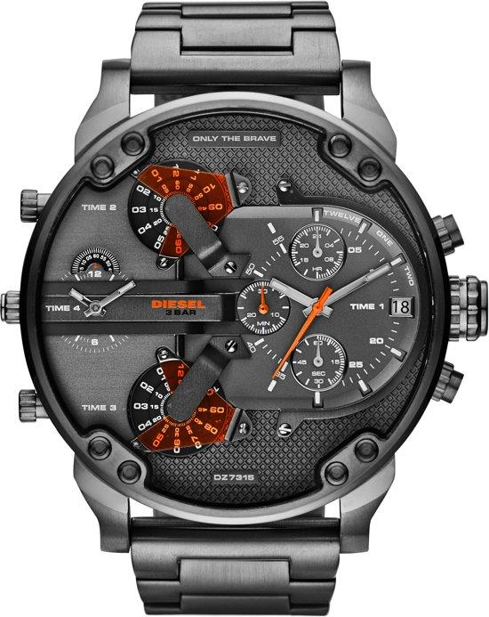 Diesel DZ7315 - Horloge - Staal - Zwart - Ø 57 mm