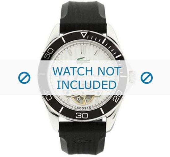 Lacoste  LC-31-1-27-0176 / 2010480 Horlogeband - Rubber - Zwart - 19 mm