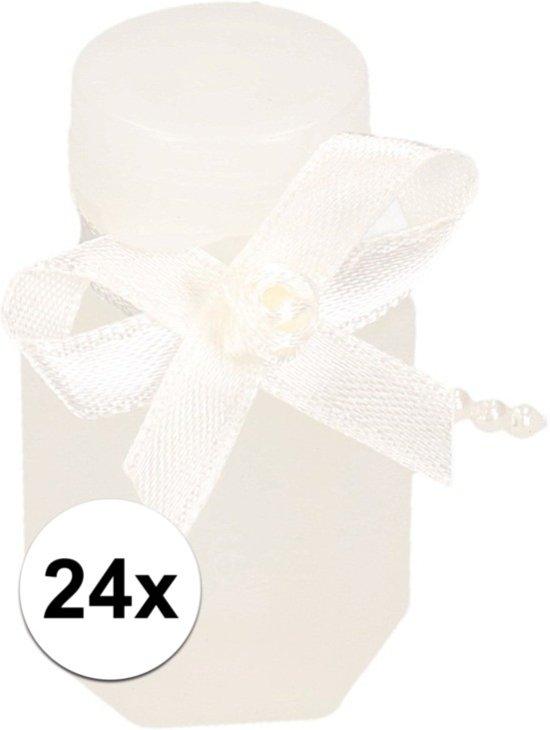 Bruiloft bellenblaas met strik 24x - huwelijk bellenblaas
