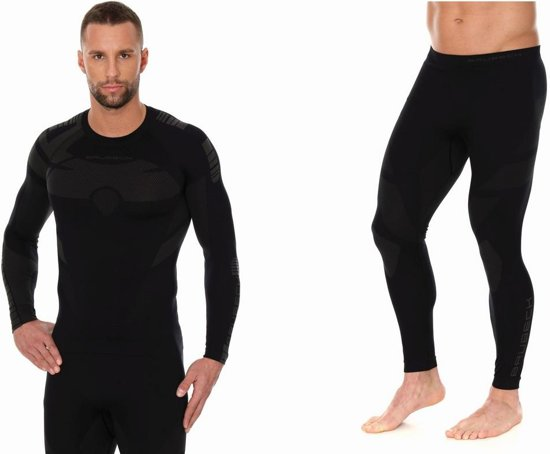 Brubeck | Dry Heren Seamless Baselayer Set - Thermo Active - Zwart/Grafiet - XL