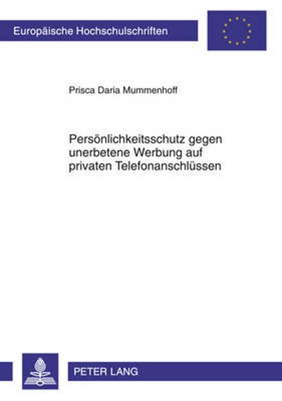 Persoenlichkeitsschutz Gegen Unerbetene Werbung Auf Privaten Telefonanschluessen