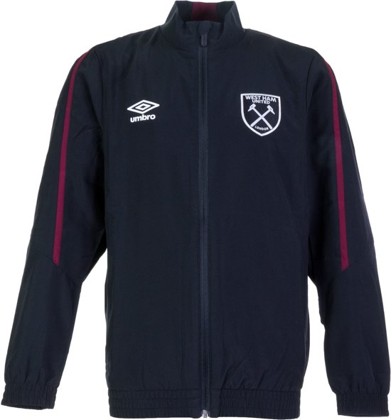 Umbro West Ham United Woven Trainingsjas - Maat S  - Unisex - grijs/rood