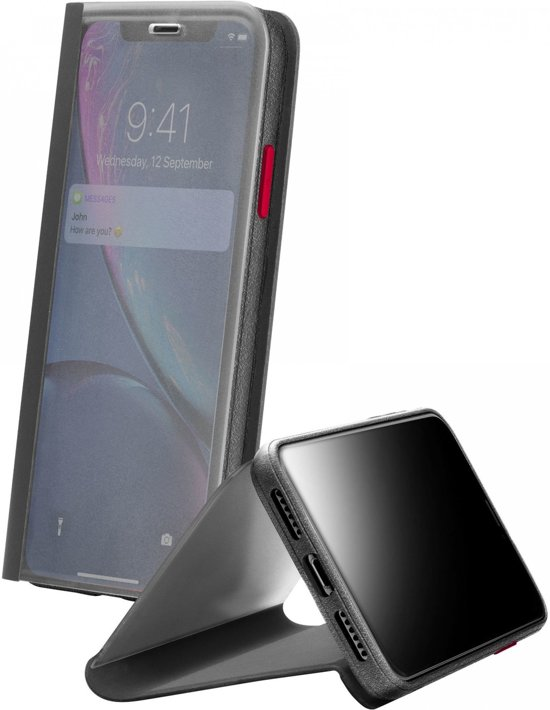 Cellularline VIEWCIPH961K mobiele telefoon behuizingen 15,5 cm (6.1'') Folioblad Zwart, Transparant