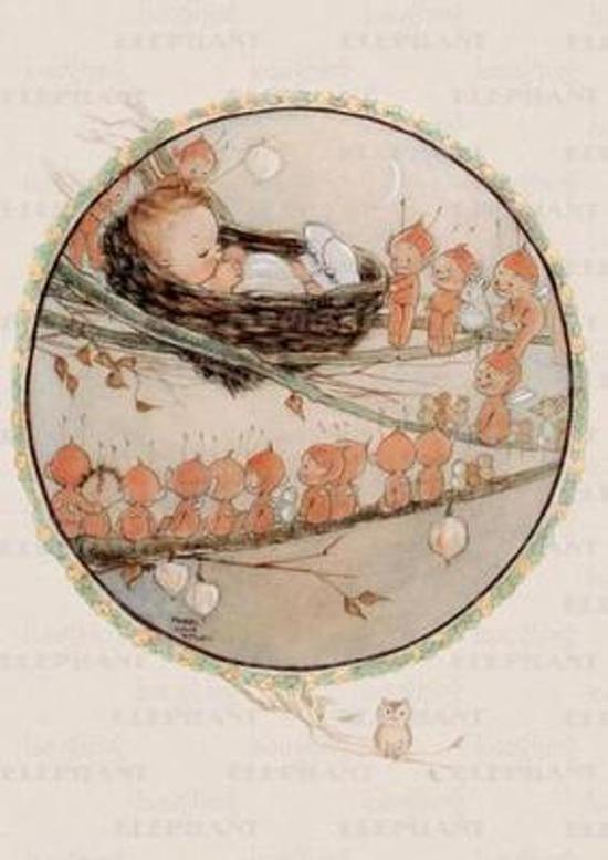 Afbeelding van het spel Baby Watched by Fairies - Greeting Card