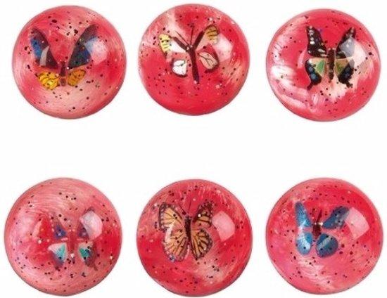 Stuiterbal Met Licht : Bol d roze stuiterbal met vlinder fun feest party