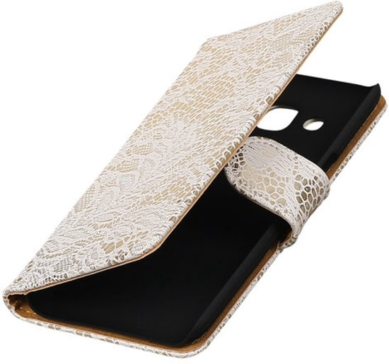BestCases.nl Huawei Ascend Y300 Lace booktype cover Wit in Wezeren