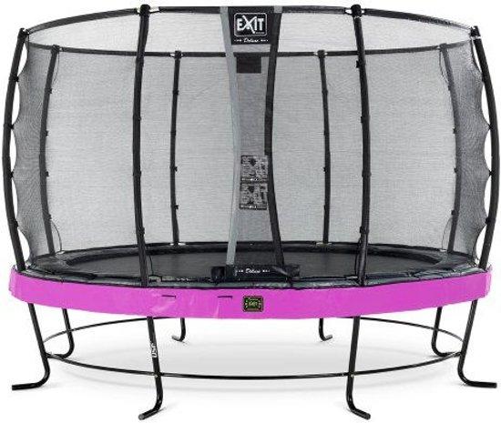 EXIT Elegant Premium trampoline ø427cm met veiligheidsnet Economy - paars