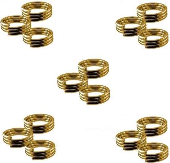 Veerringetjes - voor shafts Goud - 5 Sets (15 stuks) Dragon darts