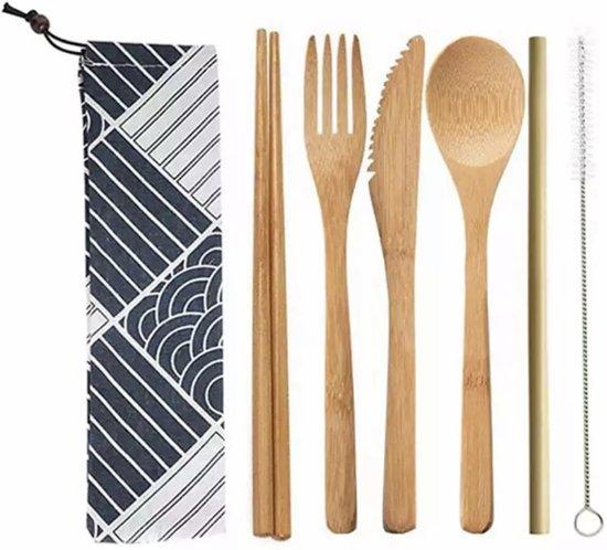 Bamboe bestek - 8-delige set - Milieuvriendelijk