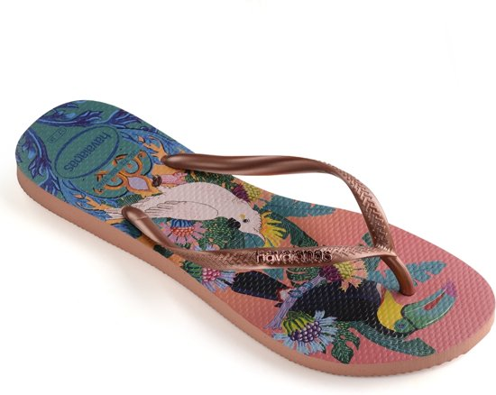 Havaianas Slippers Flipflops Slim Tropical Roze Maat:37/38