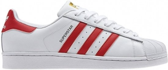 adidas superstar foundation schoenen wit rood