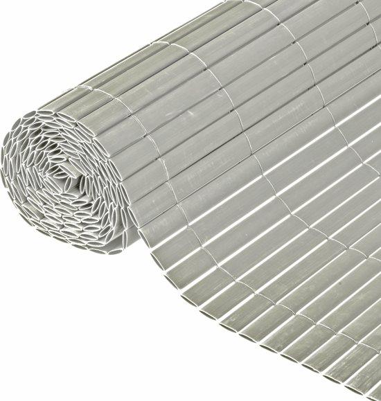 Nature - Tuinscherm - PVC - Dubbelwandig - Grijs - 1,5 x 3m