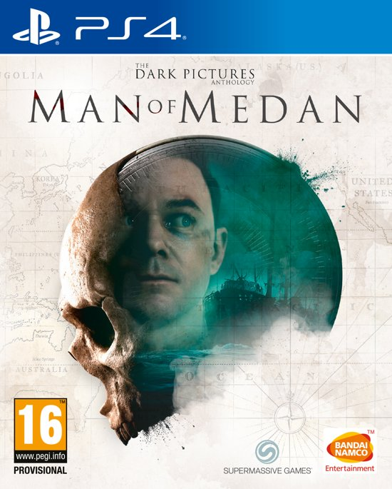 Cover van de game The Dark Pictures Anthology: Man of Medan PS4