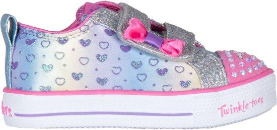 skechers Sneakers - Maat 22 - Meisjes - zilver/roze