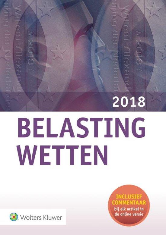 Boek cover Belastingwetten - pocketeditie 2018 van Wolters Kluwer Nederland B.V. (Onbekend)