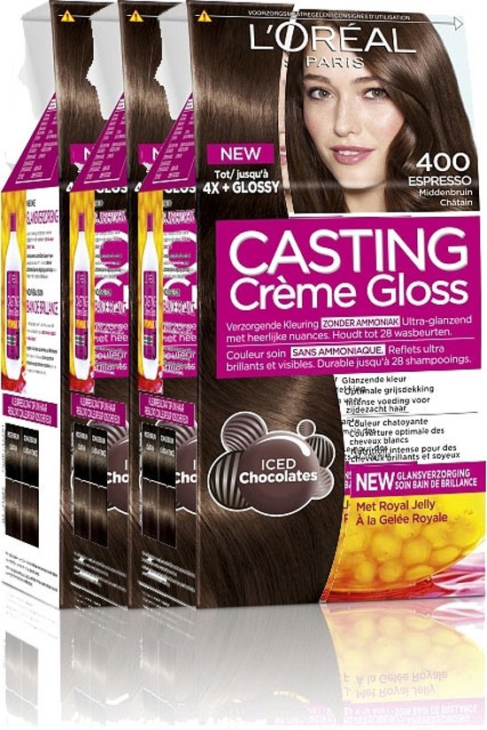 L'Oréal Paris Casting Crème Gloss 400 -Middenbruin - Haarverf