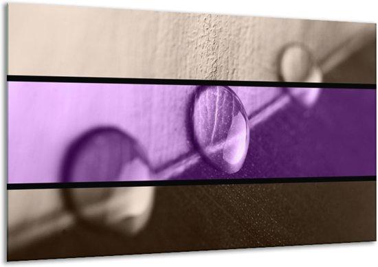 Canvas schilderij Druppels | Paars, Bruin | 120x70cm 1Luik
