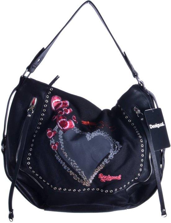 6d222564564 bol.com   Desigual Marteta Heart Punk - Handtas - Negro