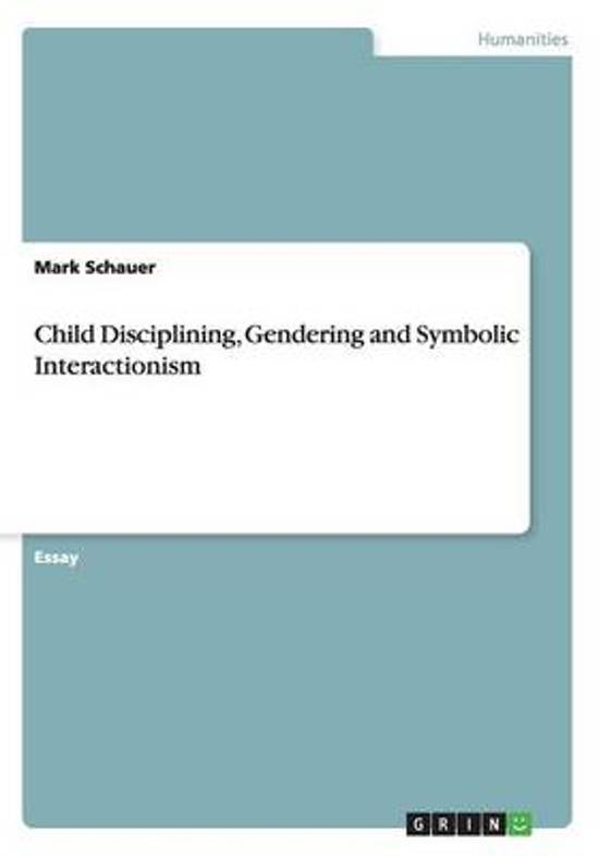 Bol Child Disciplining Gendering And Symbolic Interactionism