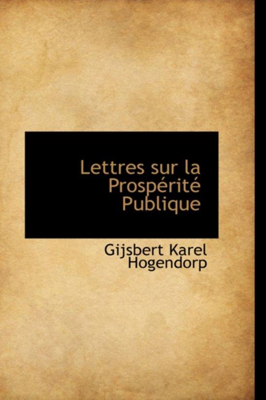 Lettres Sur La Prosp Rit Publique