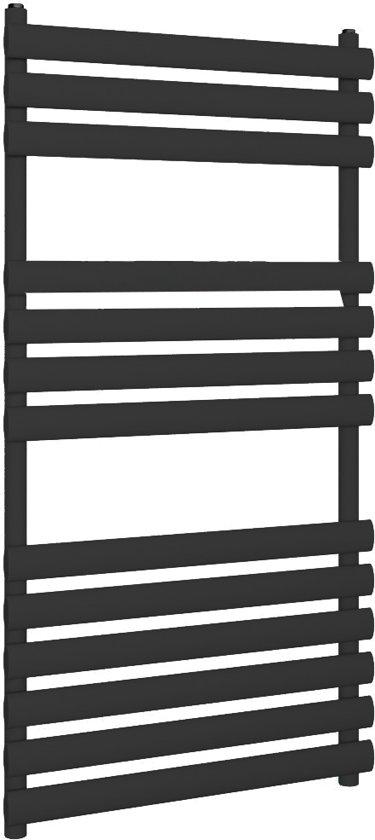 Design radiator handdoekradiator verticaal staal mat zwart 80x50cm 451 watt - Eastbrook Tunstall