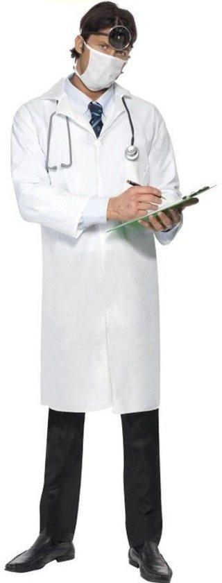 Witte doktersjas   Verkleedkleding heren maat M (48-50)