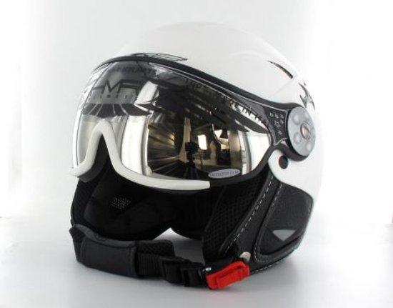 HMR - Skihelm - Leder - Unisex - Maat XXL - Basic Matt White