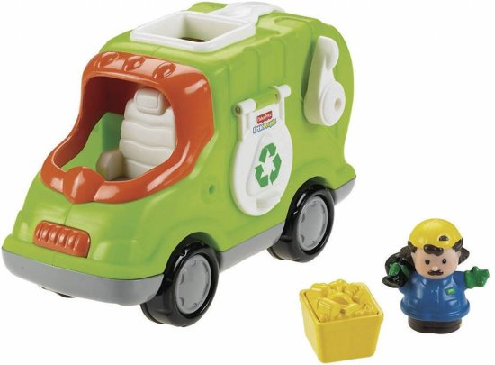 Bol Com Fisher Price Little People Vuilniswagen Speelfigurenset