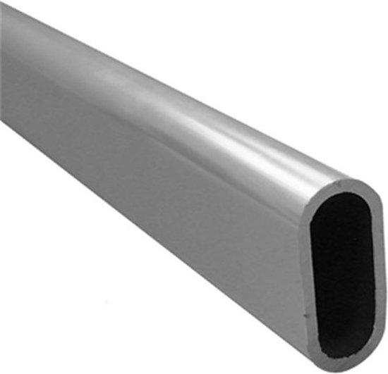 Hermeta garderobe buis ovaal - Gardelux-1 - aluminium zilverkleurig -2,5 meter -1018-01