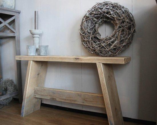handgemaakt steigerhouten krukje, bankje. Gebruikt hout.
