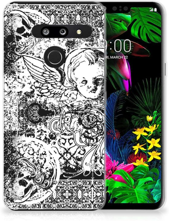 Silicone Back Case LG G8 Thinq Skulls Angel