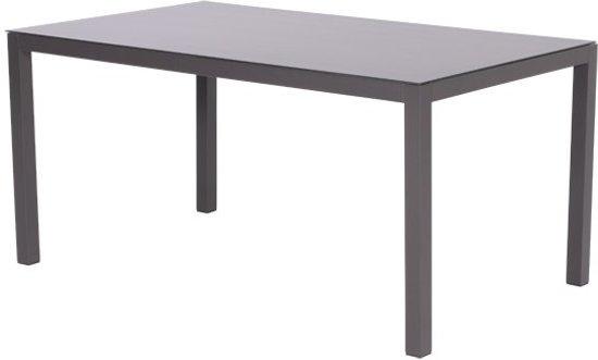 Garden Impressions - Atlantis - tafel - 150x90 - royal grey/donker grijs glas