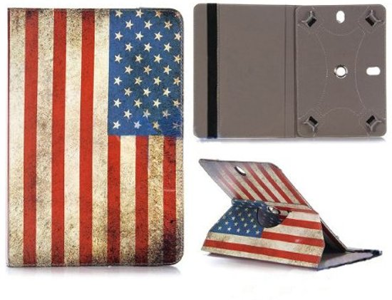 8 inch tablet hoes universeel (USA Flag) in Borgweg