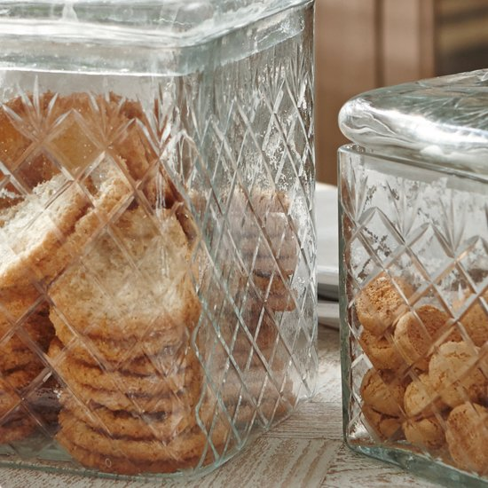 LOBERON Glazen doos set van 2 Cherie helder