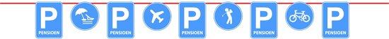Pensioen Parkeerbord Vlaggenlijn - 10 meter