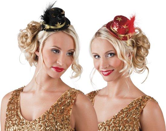 24 stuks: Tiara VIP mini hoed in 2 kleuren - assorti