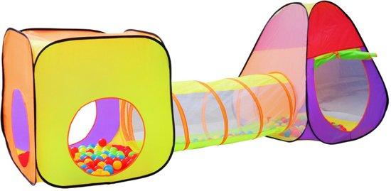 200 ballen tas speeltent ballenbak speelhuis Iglo kindertent met tunnel