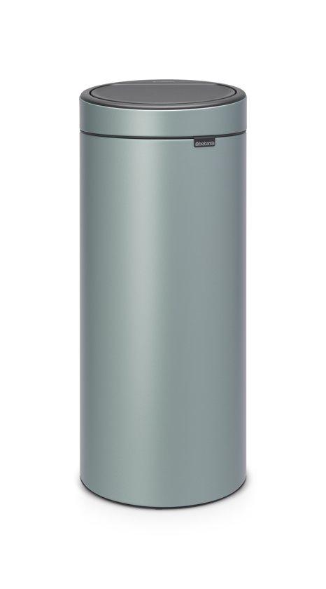 Brabantia Prullenbak Goedkoop.Brabantia Touch Bin New Prullenbak 30 L Metallic Mint