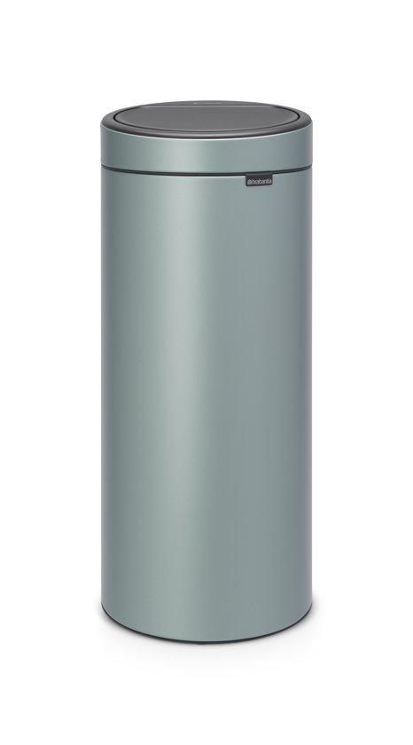 Afvalbak Touch Bin.Brabantia Touch Bin New Prullenbak 30 L Metallic Mint