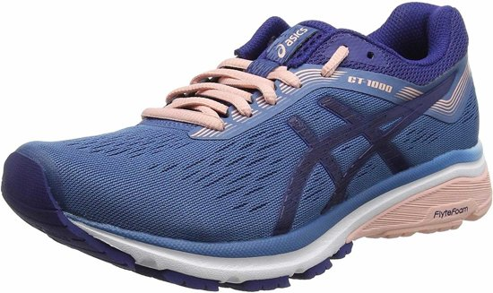 Asics GT 1000 7 blauw roze hardloopschoenen dames - maat 37