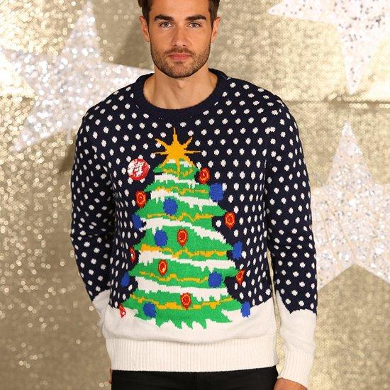Heren Kersttrui Kopen.Bol Com Blauwe 3d Kersttrui Met Lichtjes M Merkloos Speelgoed